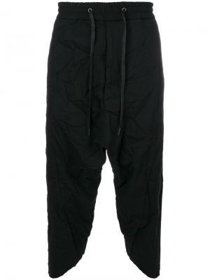 Укороченные спортивные брюки D.Gnak. Цвет: чёрный