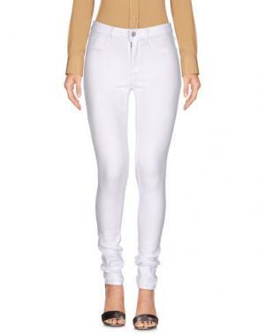 Повседневные брюки PIECES. Цвет: белый