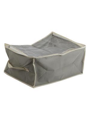 Короб STANDART Grey без крышки,42*33*19Н см WHITE FOX. Цвет: серый