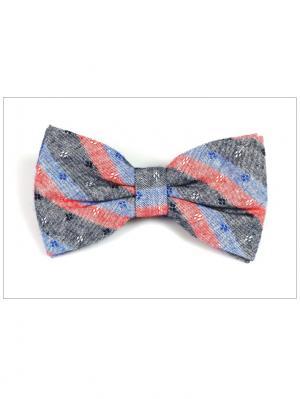 Галстук-бабочка Churchill accessories. Цвет: розовый, синий