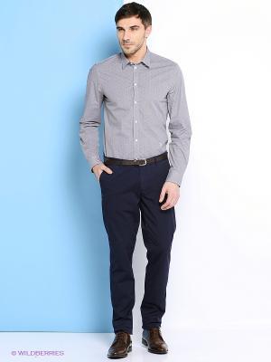 Рубашка Trussardi. Цвет: серый, серебристый, белый