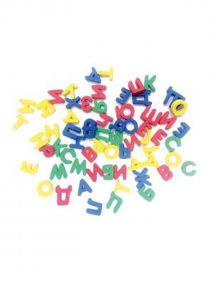 Развивающая игрушка русский алфавит на магнитной основе БОМИК. Цвет: светло-зеленый, желтый, красный