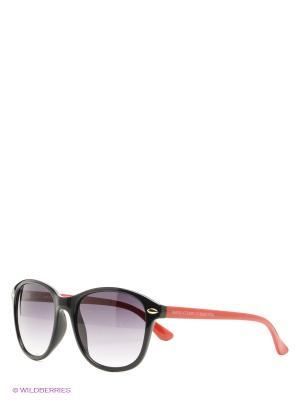 Солнцезащитные очки United Colors of Benetton. Цвет: черный, красный