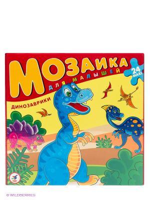 Мозаика для малышей. Динозаврики Дрофа-Медиа. Цвет: красный, желтый