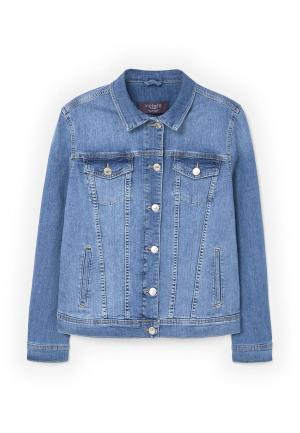 Куртка джинсовая Violeta by Mango. Цвет: синий