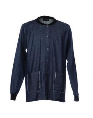 Джинсовая рубашка PRIMO EMPORIO. Цвет: синий