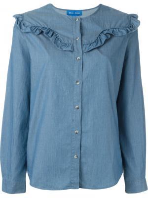 Блузка Niki Mih Jeans. Цвет: синий