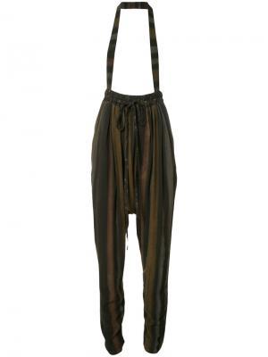 Брюки-шаровары с подтяжками Vivienne Westwood. Цвет: серый
