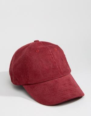 Dead Vintage Вельветовая бейсболка. Цвет: красный