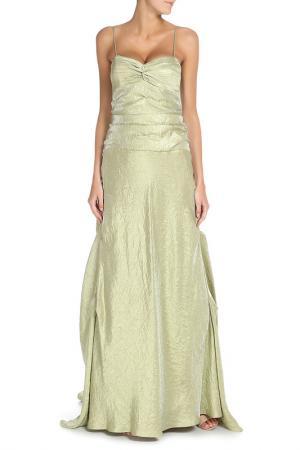 Платье Groupe JS. Цвет: оливковый