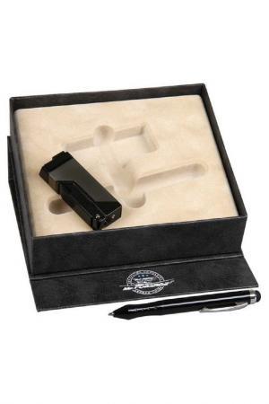 Набор: зажигалка, ручка-стилус Mr.Forsage. Цвет: черный