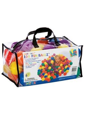 Шарики - мячики для сухого бассейна Intex. Цвет: красный, желтый, оранжевый, синий, фиолетовый