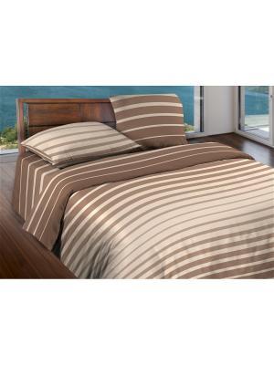 Комплект постельного белья 2,0 бязь Stripe Brown Wenge. Цвет: бежевый, коричневый, кремовый