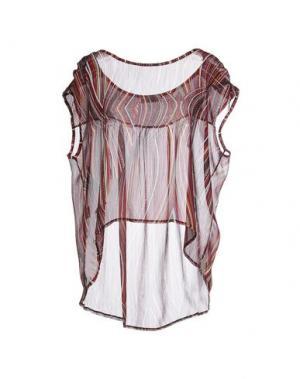 Блузка FREE FOR HUMANITY. Цвет: розовато-лиловый