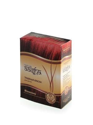 Краска для волос травяная Махагони, 60 г Aasha Herbals. Цвет: красный
