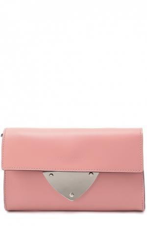 Кожаный клатч B14 Coccinelle. Цвет: розовый