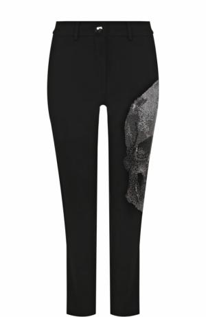 Укороченные брюки прямого кроя со стразами Philipp Plein. Цвет: черный
