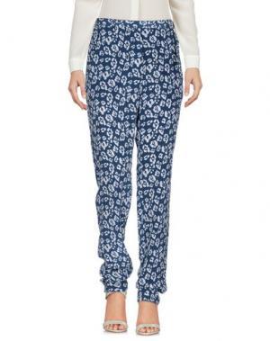 Повседневные брюки EQUIPMENT FEMME. Цвет: темно-синий