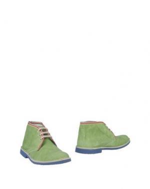 Полусапоги и высокие ботинки BRAWN'S. Цвет: зеленый