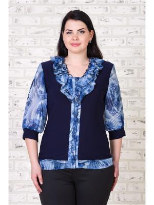 Блузка MAXLINE. Цвет: темно-синий, синий