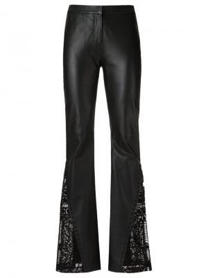 Leather flared trousers Martha Medeiros. Цвет: чёрный
