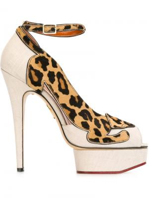 Туфли Leopardess Charlotte Olympia. Цвет: телесный