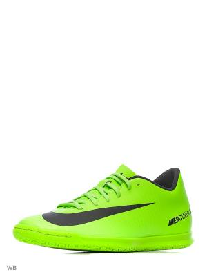 Кеды для зала MERCURIALX VORTEX III IC Nike. Цвет: зеленый