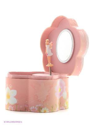 Музыкальная шкатулка с фигуркой в форме цветочка Jakos. Цвет: розовый, желтый, бирюзовый, голубой, оранжевый