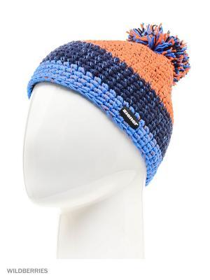 Шапка Ziener. Цвет: голубой, оранжевый, синий