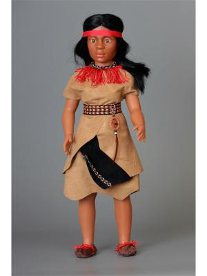 Кукла India Tribu Hupa- Хупа племени Lamagik S.L. Цвет: бежевый, красный, черный