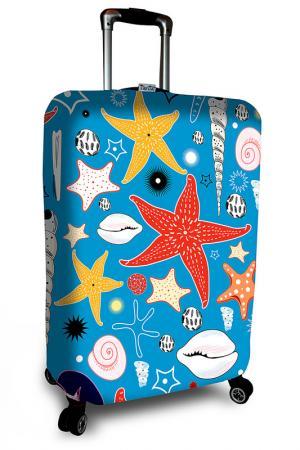 Чехол на чемодан SOVA COVER. Цвет: голубой