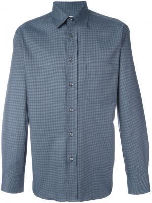 Рубашка в клетку Brioni. Цвет: синий