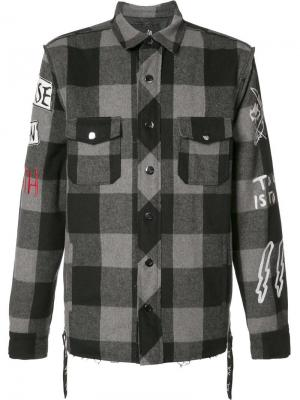 Куртка-рубашка в клетку Haculla. Цвет: чёрный
