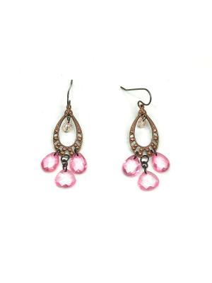 Серьги Bohemia Style. Цвет: розовый, бронзовый