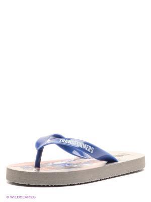 Шлепанцы Kakadu. Цвет: серый, синий