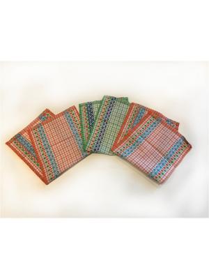 Набор полотенец 3 предмета La Pastel. Цвет: светло-зеленый, оранжевый, белый