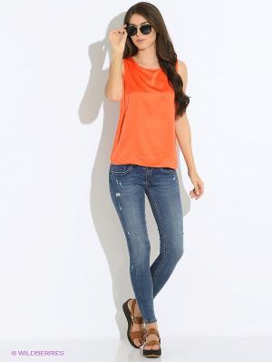 Топ Modis. Цвет: оранжевый, коралловый