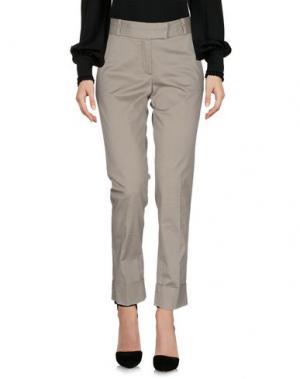 Повседневные брюки CIVIDINI. Цвет: светло-желтый