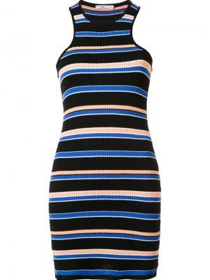 Платье в полоску Seymour Obey. Цвет: чёрный