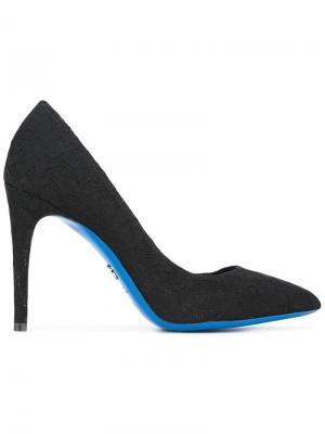 Кружевные туфли-лодочки Loriblu. Цвет: чёрный
