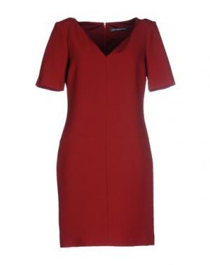 Короткое платье CARLA MONTANARINI. Цвет: красно-коричневый