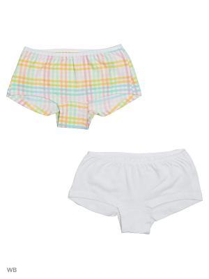 Трусы-шорты, 2 шт LISA CROWN. Цвет: бирюзовый, салатовый, розовый, желтый, белый