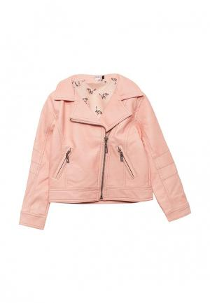 Куртка кожаная 3 Pommes. Цвет: розовый