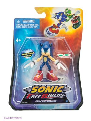 Фигурка-машинка Sonic Free Riders. Цвет: синий, оранжевый