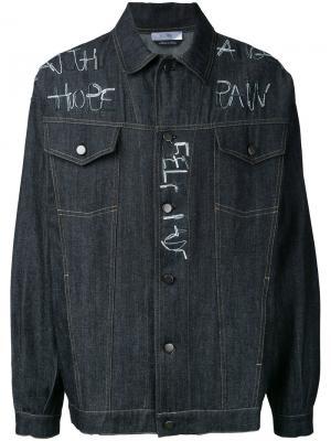 Джинсовая куртка с вышивкой Selfmade By Gianfranco Villegas. Цвет: чёрный