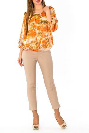 Блуза с топом S&A style. Цвет: оранжево-бежевый
