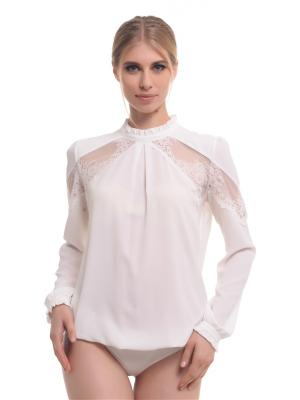 Блузка- боди GENEVIE. Цвет: молочный
