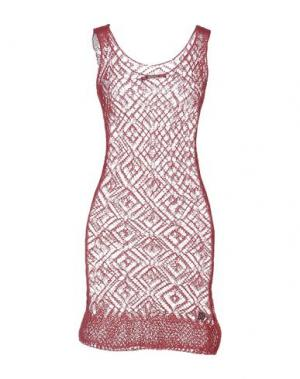 Короткое платье !M?ERFECT. Цвет: пурпурный