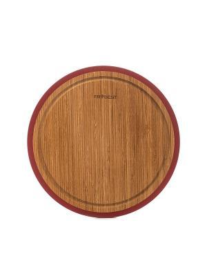 Доска бамбуковая Frybest. Цвет: темно-коричневый