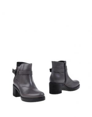 Полусапоги и высокие ботинки EMANUELA PASSERI. Цвет: свинцово-серый